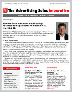 The Advertising Sales Imperative