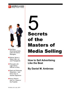 5 Secrets of the Masters of Media Selling Cover