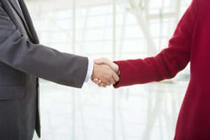 business people shake hands after meeting