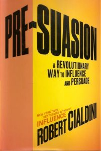 Pre-Suasion, by Robert Cialdini, book cover