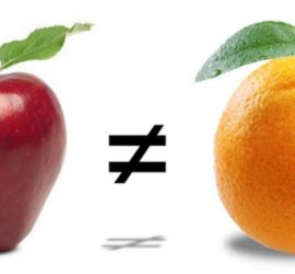 Doesn't make sense to compare an apple to an orange.
