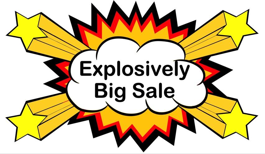 a sale explosion